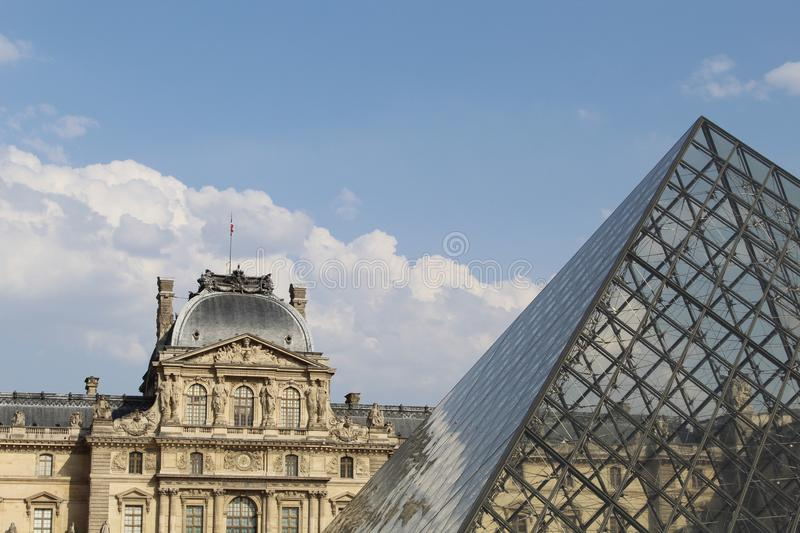 Museum view in Paris France in a sunny day royalty free stock images
