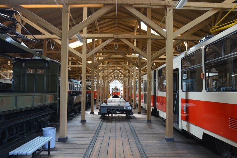 Museum von öffentlichen Transportmitteln der Stadt von Prag stockfotografie