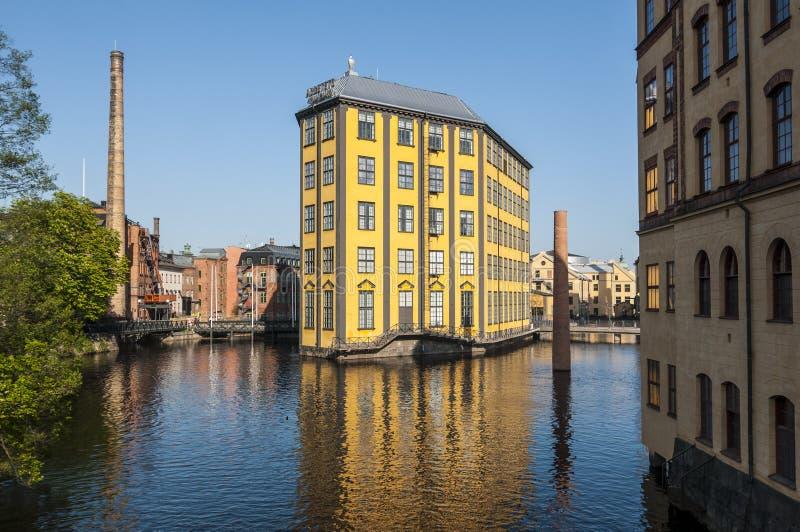 Museum von Arbeitsindustrielandschaft Norrkoping lizenzfreies stockfoto