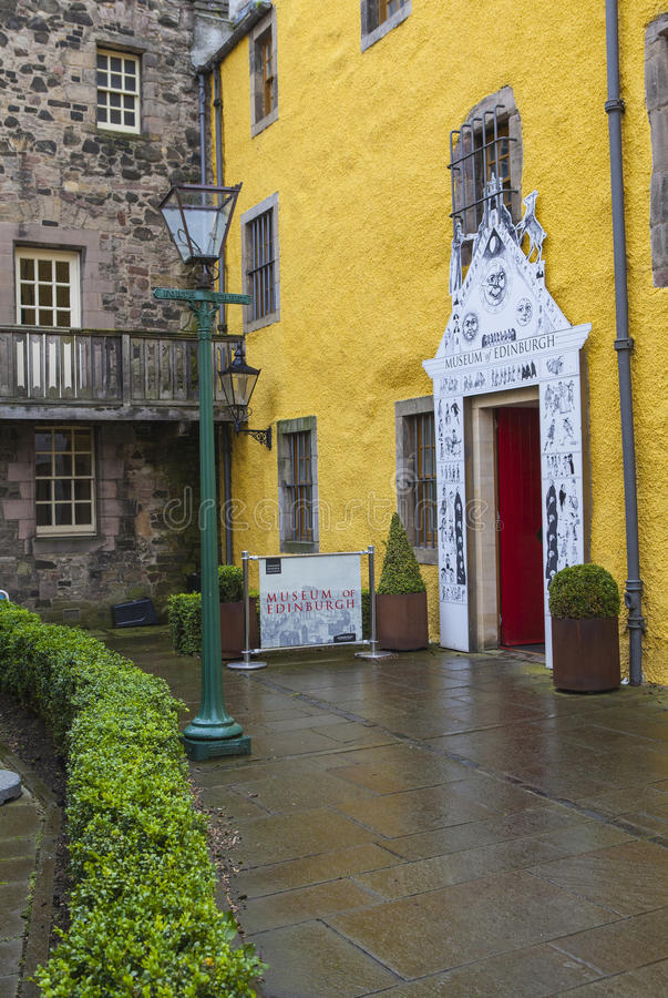 Museum von Edinburgh stockfoto