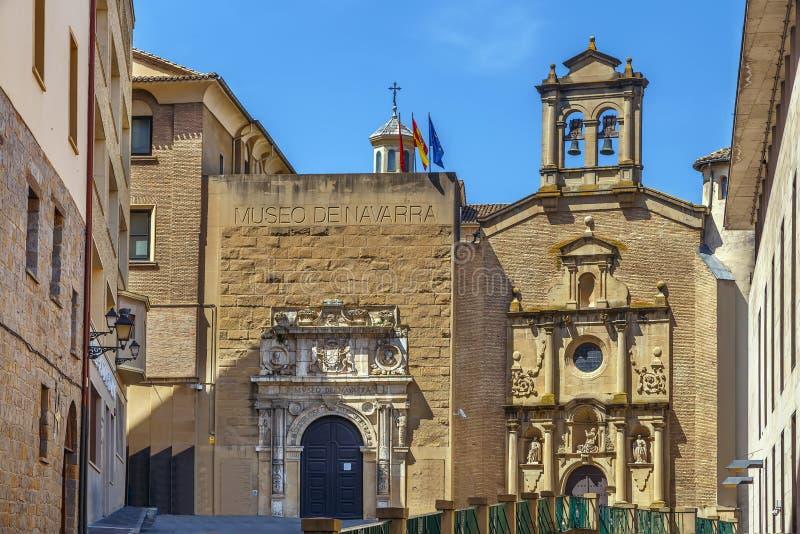 Museum von Navarra, Pamplona, Spanien lizenzfreie stockfotos