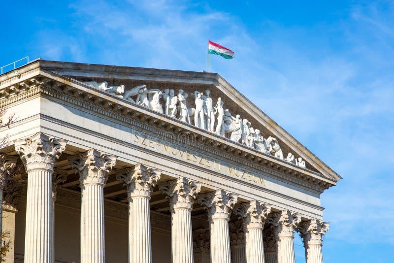 Museum von schönen Künsten Budapest, Ungarn stockfotos