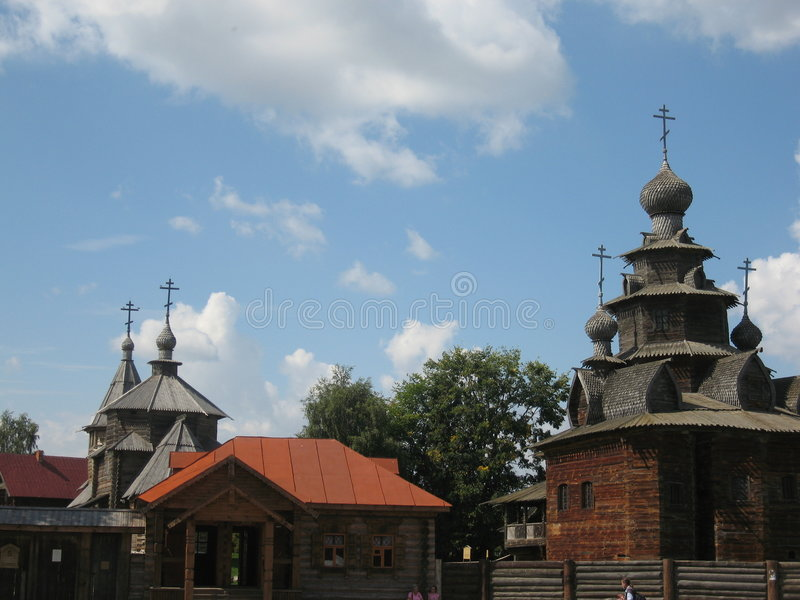 Museum of wooden architecture, Suzdal, Russia royalty free stock photography