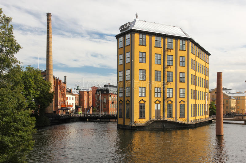 Museum of Work. Industrial landscape. Norrkoping. Sweden royalty free stock photos