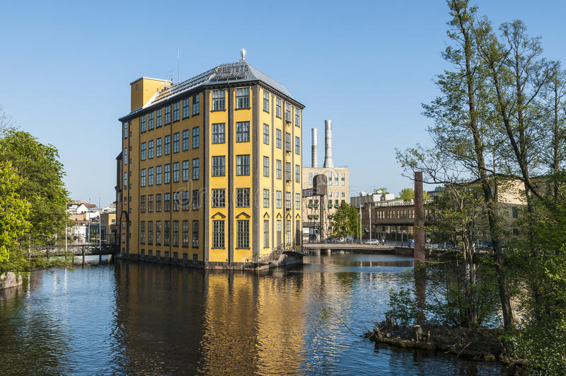 Museum of work industrial landscape Norrkoping stock photos