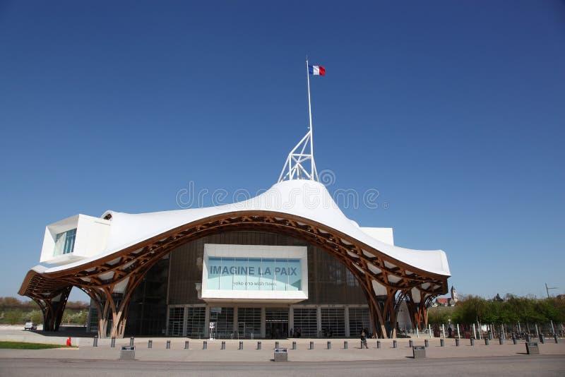 MuseumCentre Pompidou i Metz, Frankrike royaltyfria bilder