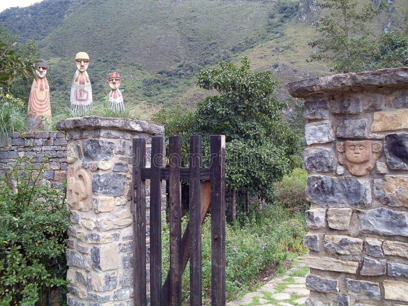 Museumerkännande, Leymebamba, Chachapoyas, Amazonas, Peru, Sydamerika royaltyfria foton