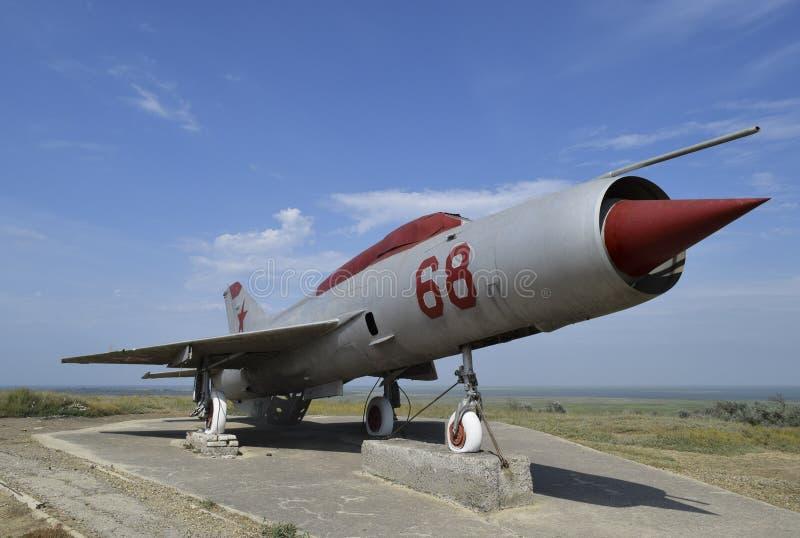Museumexemplaar van de vliegtuigen Monument van vechtersvliegtuigen royalty-vrije stock foto's
