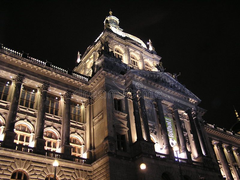 museumnational prague royaltyfri bild