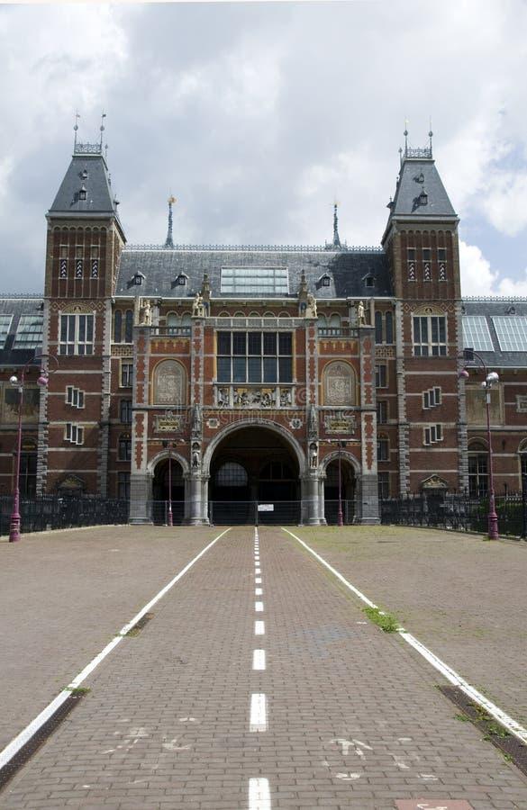 Museumplein de Rijksmuseum Amsterdam Hollande photographie stock