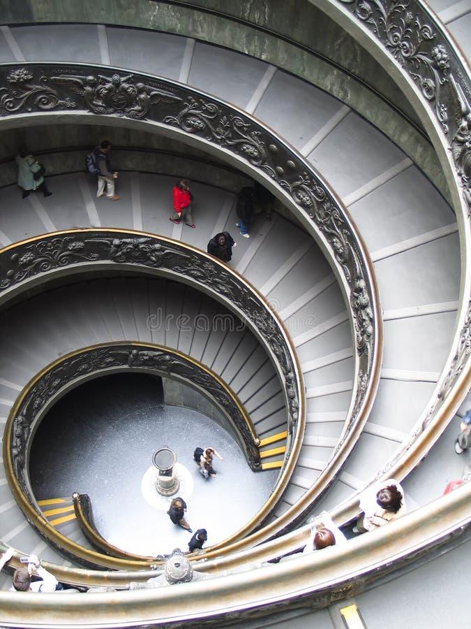 museumrome trappa vatican royaltyfri bild