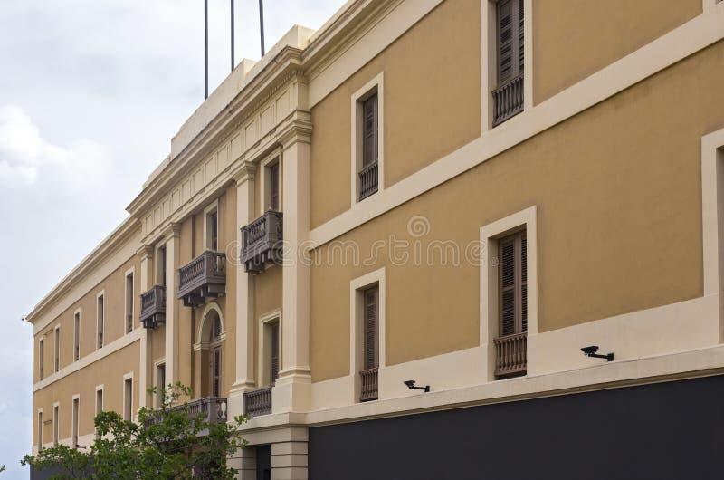 Museums-Gebäude in altem San Juan lizenzfreie stockfotografie