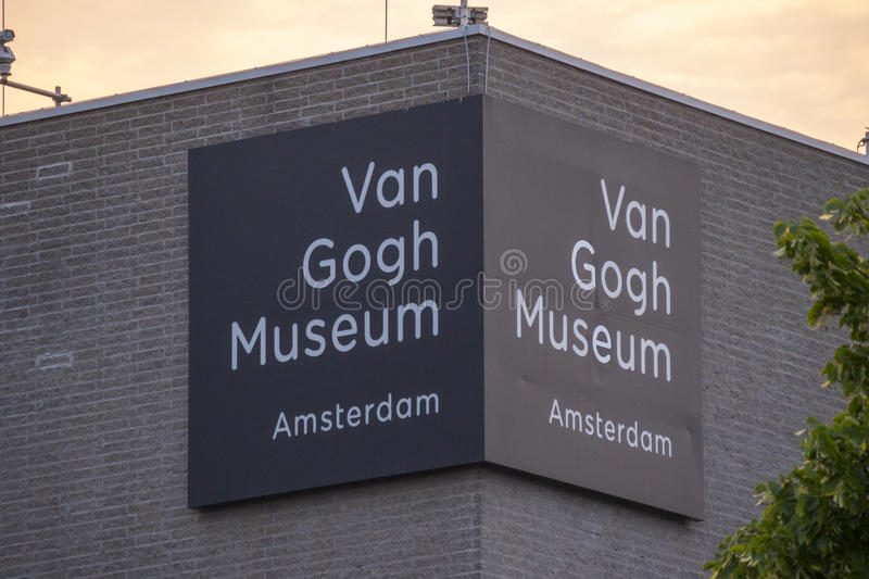The museums at the Museum Quarter in Amsterdam - the Van Gogh Museum - AMSTERDAM - THE NETHERLANDS - JULY 20, 2017 stock images