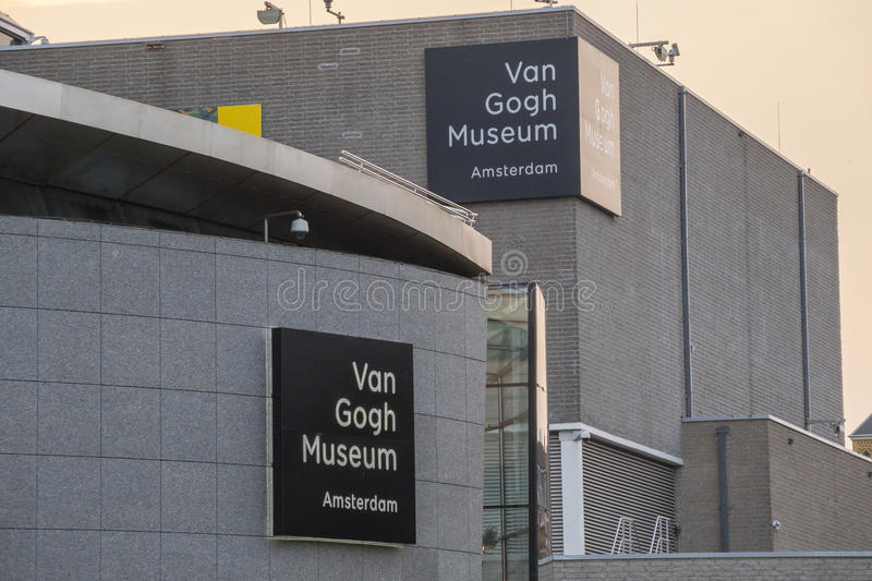 The museums at the Museum Quarter in Amsterdam - the Van Gogh Museum - AMSTERDAM - THE NETHERLANDS - JULY 20, 2017 royalty free stock photos