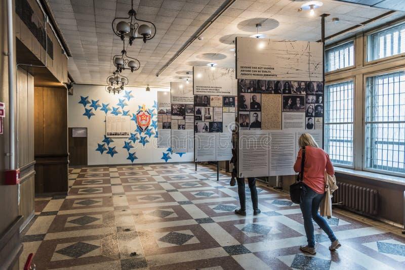 Museumsausstellung KGB, die Riga errichtet lizenzfreie stockfotografie