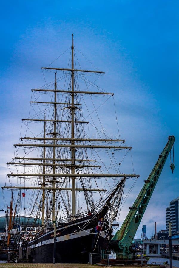 Museumshafen Bremerhaven arkivbild