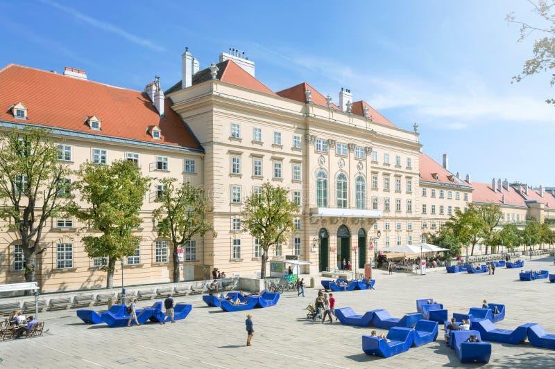 Museumsquartier维也纳,奥地利 库存照片