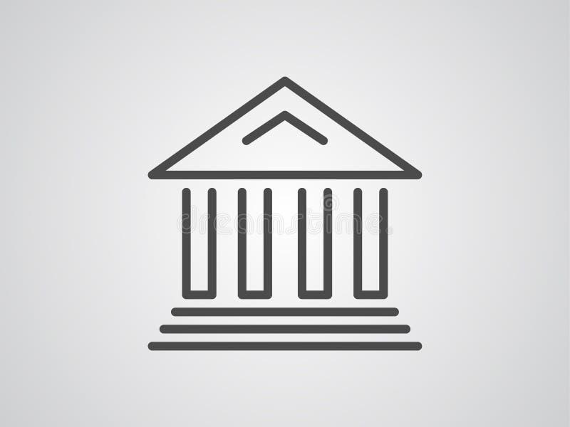 Museumsvektorikonen-Zeichensymbol stock abbildung