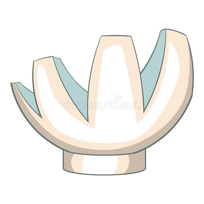 Museumsymbol, tecknad filmstil royaltyfri illustrationer