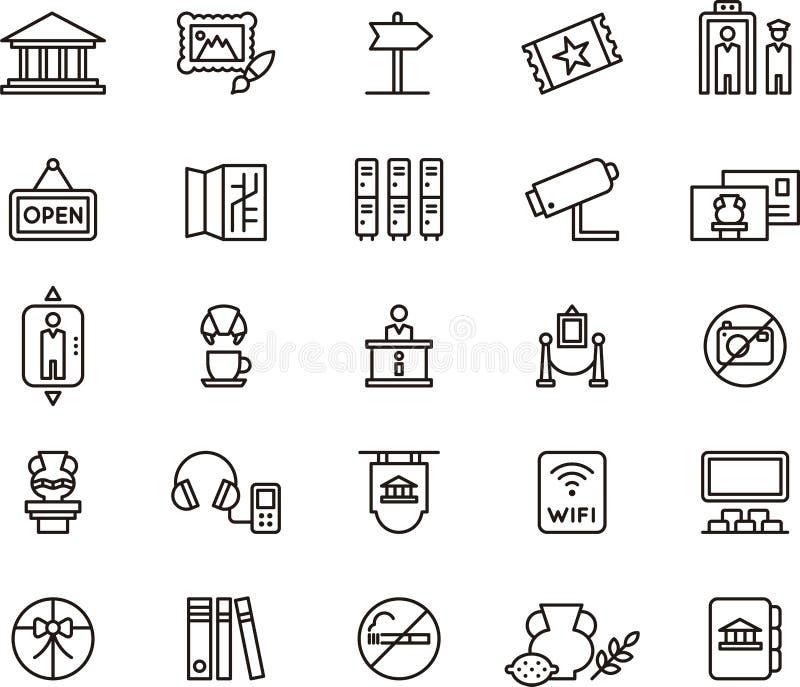 Museumsymboler vektor illustrationer
