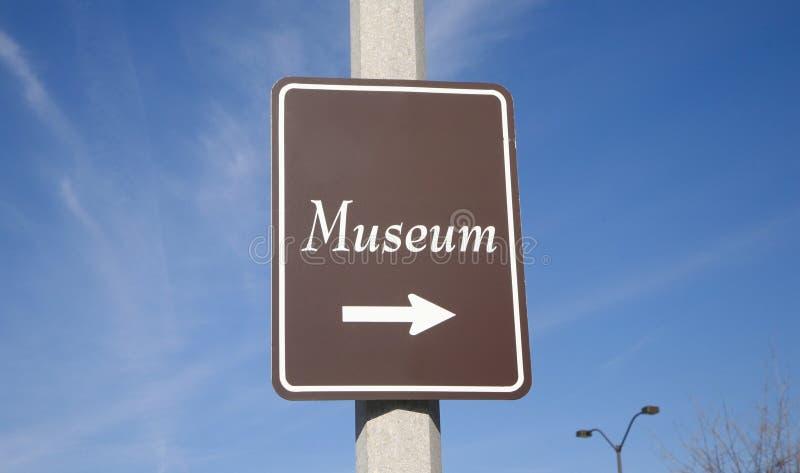 Museumtecken fotografering för bildbyråer