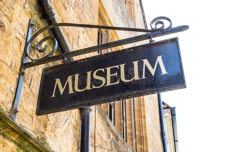 Museumteken stock fotografie