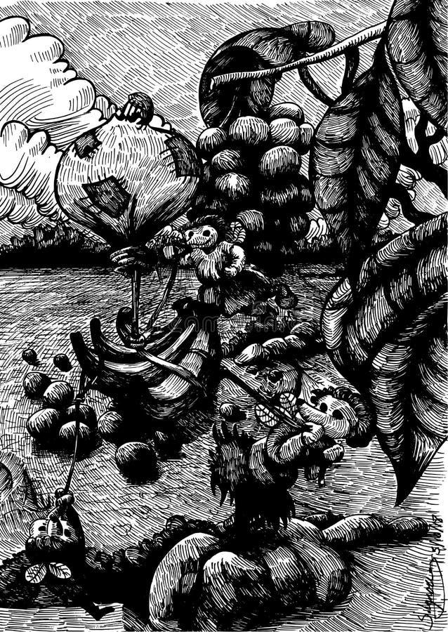 Musfeillustration royaltyfri illustrationer