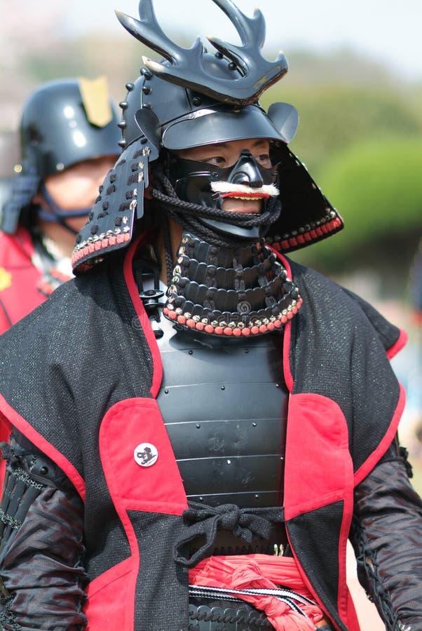 Musha Gyoretsu (défilé de guerrier dans la ville de Kanra) image libre de droits