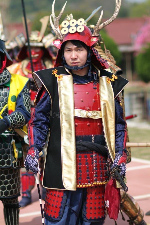 Musha Gyoretsu (parata del guerriero nella città di Kanra) fotografie stock libere da diritti