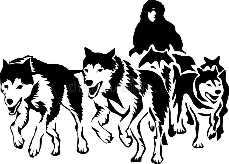 musher vector illustratie