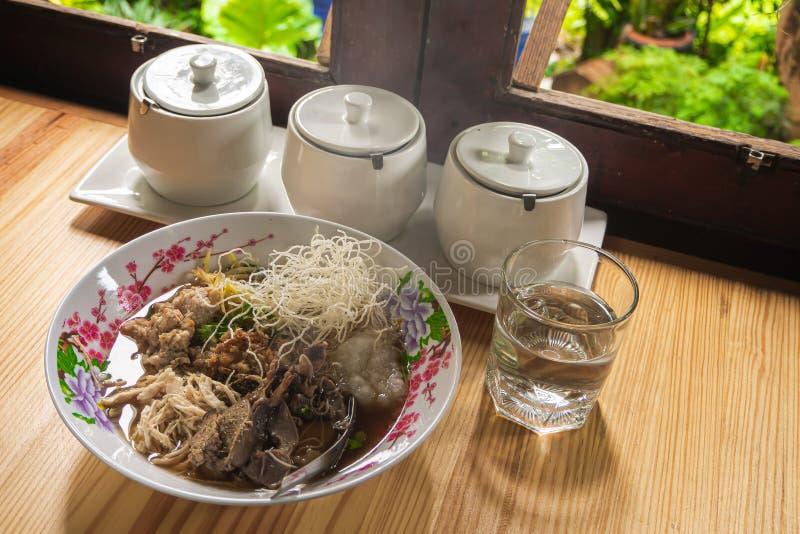 Mushris kokade för thailändska den populära asiatiska frukosten matbreakfas för ris fotografering för bildbyråer