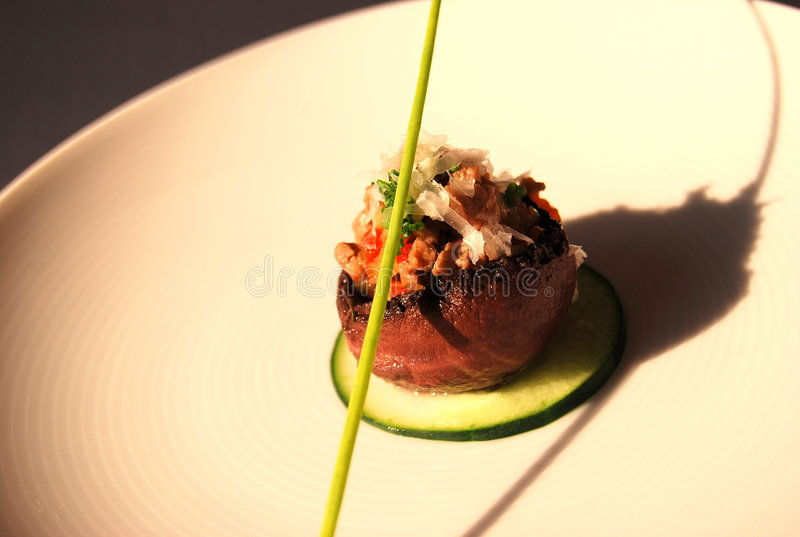 Mushroom appetizer royalty free stock photography