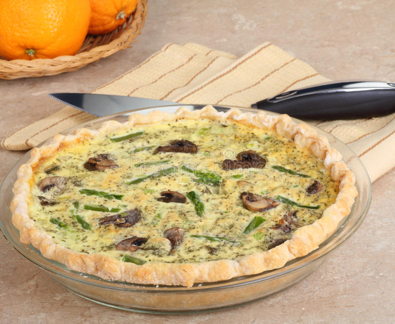 Download Mushroom And Asparagus Quiche Stock Photo - Image of quiche, breakfast: 25963770