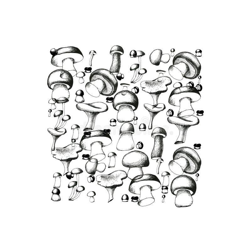 Mushroom background stock illustration