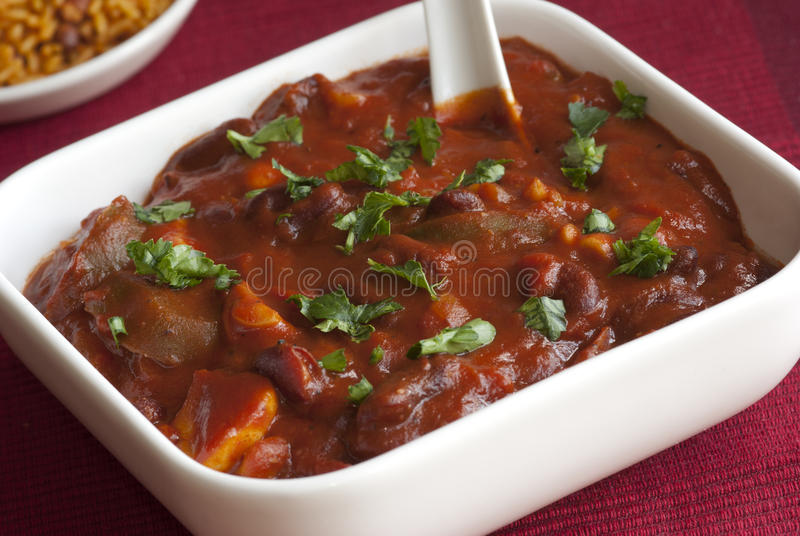 Download Mushroom and bean chilli stock image. Image of chili - 18727881