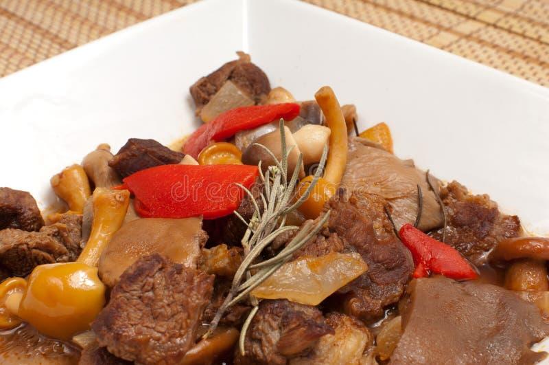Mushroom goulash stock photo