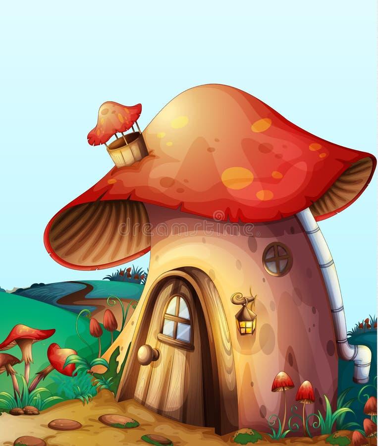 Mushroom house vector illustration