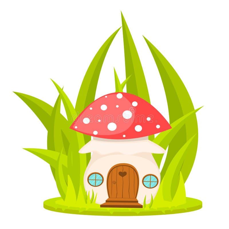 Mushroom house cartoon vector illustration. vector illustration
