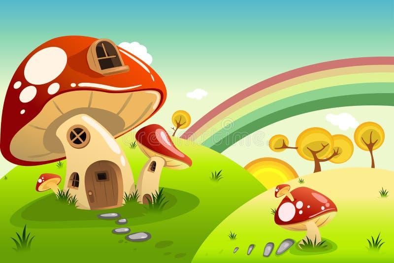 Mushroom houses royalty free illustration