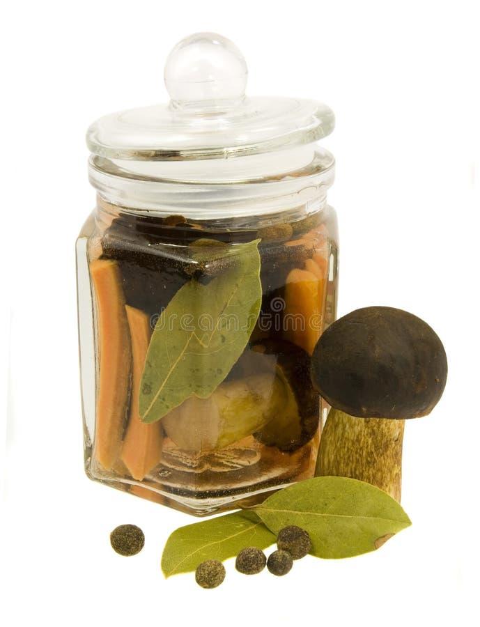 Free Mushroom In The Jar Royalty Free Stock Photo - 3187265