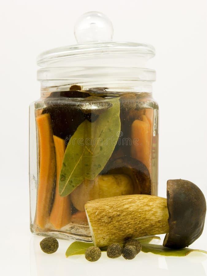 Free Mushroom In The Jar Royalty Free Stock Photos - 3187388