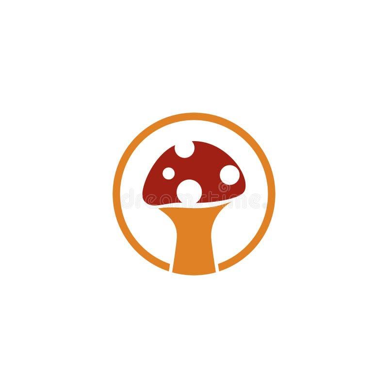 Mushroom logo. Healthy mushroom logo vector template, illustration, icon, nature, symbol, food, design, white, isolated, natural, edible, organic, vegetable royalty free illustration