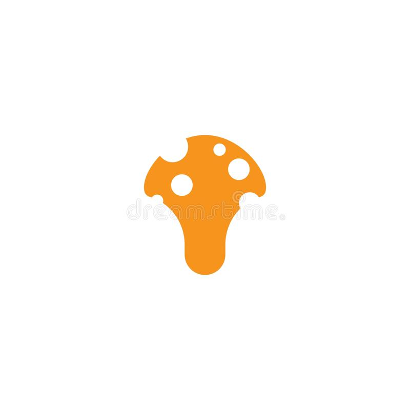Mushroom logo. Healthy mushroom logo vector template, illustration, icon, nature, symbol, food, design, white, isolated, natural, edible, organic, vegetable vector illustration