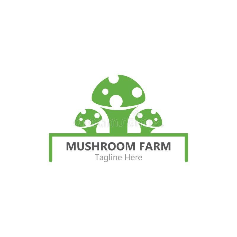 Mushroom logo. Healthy mushroom logo vector template, illustration, icon, nature, symbol, food, design, white, isolated, natural, edible, organic, vegetable stock illustration