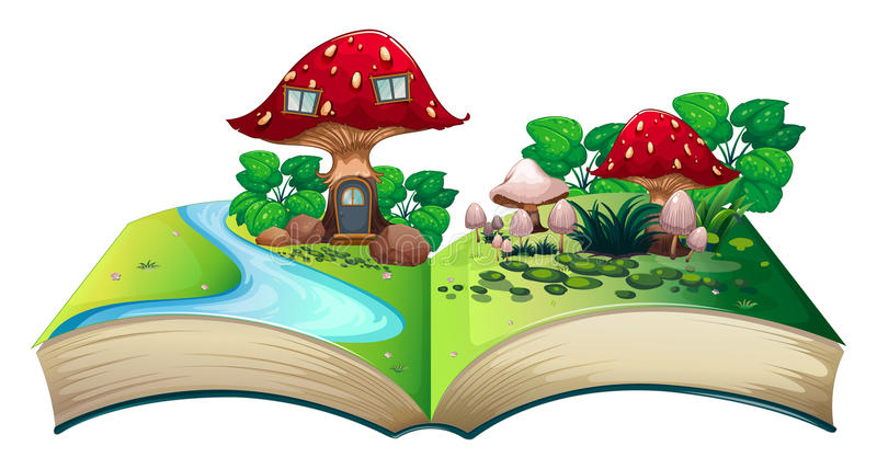 Mushroom popup book stock illustration