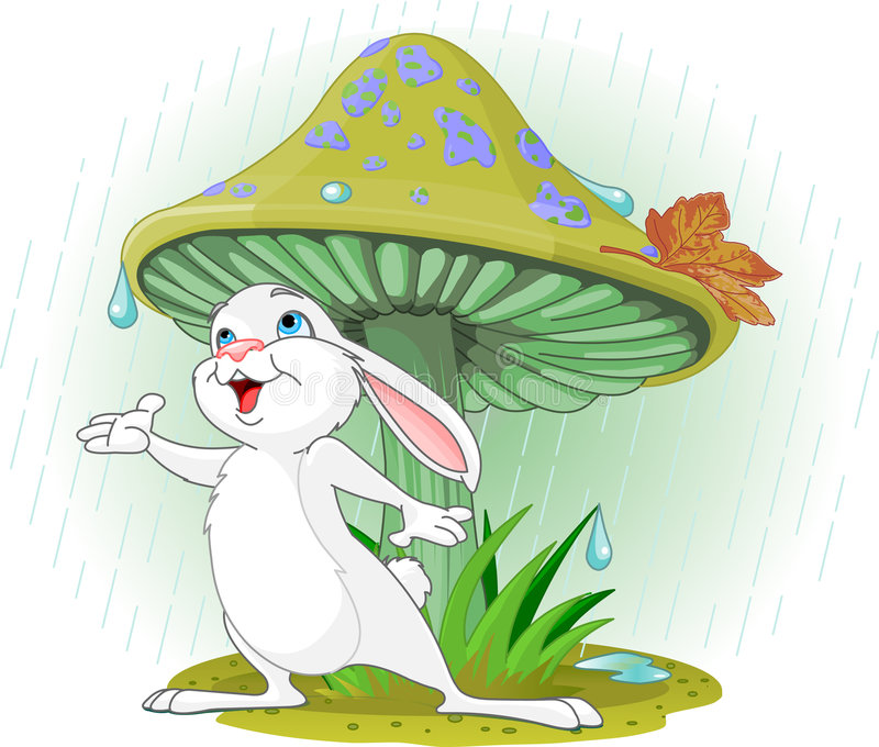Download Mushroom Rabbit stock vector. Image of weather, mushroom - 8759626