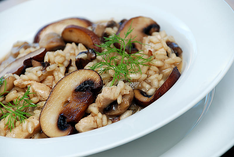 Mushroom risotto royalty free stock images