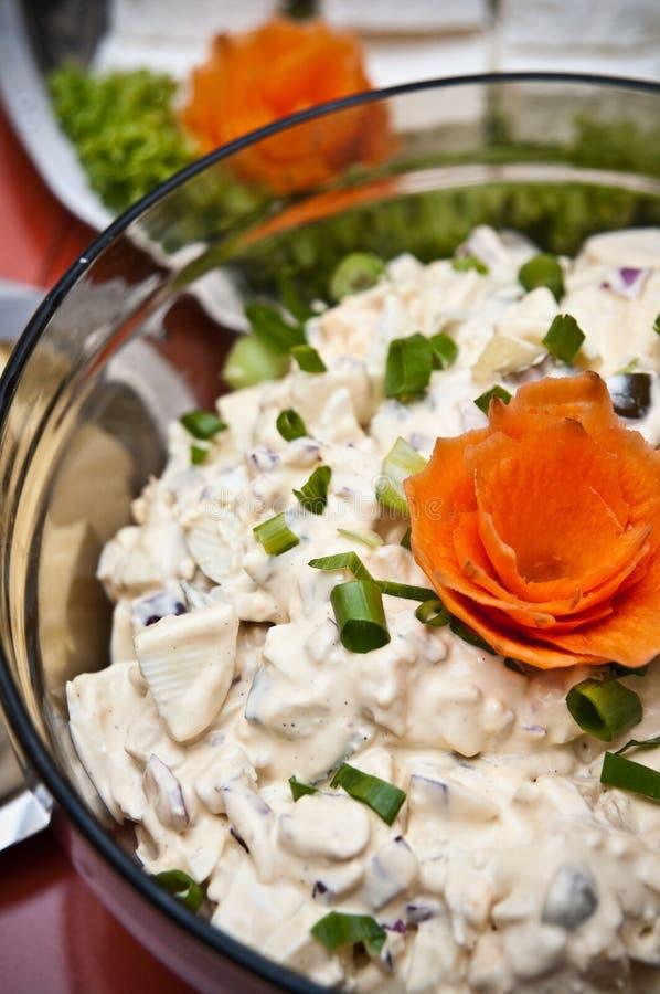 Download Mushroom salad stock image. Image of close, chives, serving - 34268961