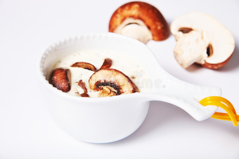 Download Mushroom Sauce In A Gravy Boat Royalty Free Stock Photos - Image: 20661588