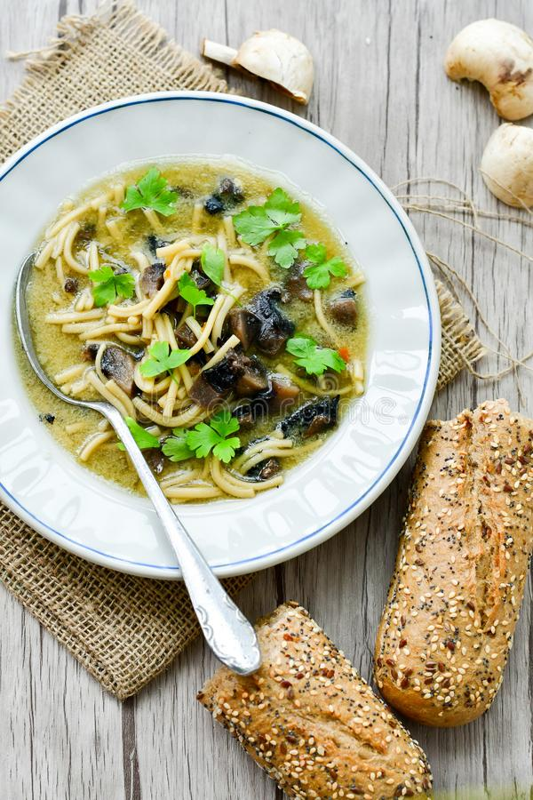 Mushroom soup stock photography